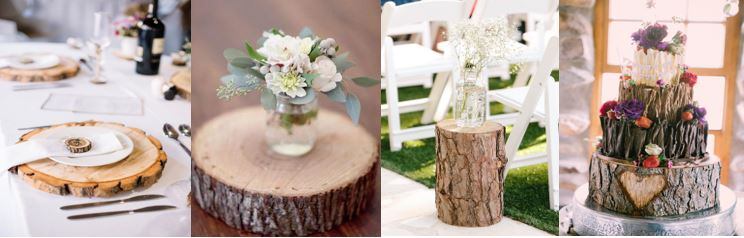 Wood log decor range